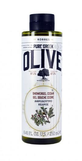 KORRES Pure Greek Olive Αφρόλουτροο Κέδρος 250ml