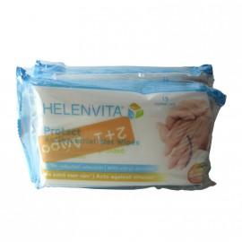 Helenvita Protect Antibacterial Wet Wipes 15τμχ 2+1 Δώρο
