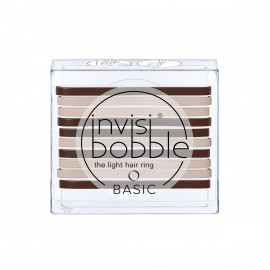 Invisibobble Basic Light Hair Ring Mocca and Cream Λαστιχάκια Μαλλιών με Χρώμα Μπεζ 10τμχ
