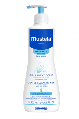 Mustela Gel Lavant Doux Απαλό Τζελ Καθαρισμού για Μαλλιά & Σώμα 500ml