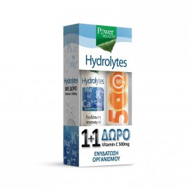 Power Health Hydrolytes Συμπλήρωμα Διατροφής με Γεύση Λεμόνι 20tabs + Δώρο Vitamin C 500mg 20tabs