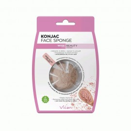 Vican Wise Beauty Konjac Face Sponge With Pink Clay 1τμχ