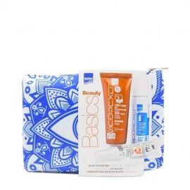 Intermed Set Basics Beauty Luxurious Suncare Silk Cover BB Cream SPF50 75ml & Luxurious Sunscreen Lip Balm SPF30 15ml & Luxurious Hydrating Antioxidant Spray Mist 50ml