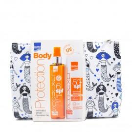 Intermed Set Protection Body Luxurious Suncare Antioxidant Sunscreen Invisible Spray SPF50+ 200ml & Luxurious Sun Care Tanning Oil SPF6 200ml