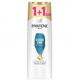 Pantene Pro-V Classic Care Shampoo 360ml 1+1 Δώρο