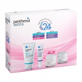 Panthenol Extra Set Face Cleansing Gel 150ml & Triple Defense Eye Cream 25ml & Day Cream Spf15 50ml & Night Cream 50ml