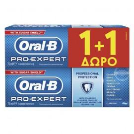 Oral-B Pro-Expert Οδοντόκρεμα Πολλαπλής Προστασίας 75m 1+1