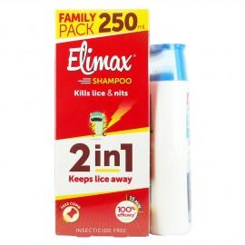Elimax Shampoo Σαμπουάν για τις ψείρες 250ml + Δώρο Elimax Shampoo για εφαρμογή μετα το αντιφθειρικό προϊόν 200ml