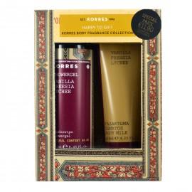 Korres Set Αφρόλουτρο Vanilla, Freesia, Lychee 250ml & Γαλάκτωμα Σώματος Vanilla 125ml
