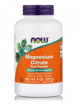 Now Foods Magnesium Citrate Pure Powder Vegetarian 8oz 226,7gr