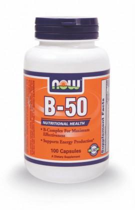 Now Foods Vitamin B-50 100 Veget.caps