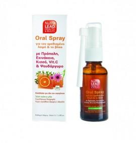 Nutralead Oral Spray Στοματικό Σπρέι για τον Ερεθισμένο Λαιμό & Βήχα, με Πρόπολη, 30ml