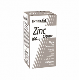 Health Aid Zinc Citrate 100mg 100tab