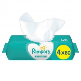 Pampers Sensitive Μωρομάντηλα 4 Χ 80τμχ