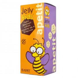 Eladiet Jelly Kids Apetit Συμπλήρωμα Διατροφής με Βασιλικό Πολτό και Βιταμίνες Χωρίς Γλουτένη 250ml