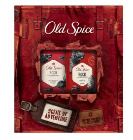Old Spice Set Rock Antipersirant & Deodorant Stick 50ml + Old Spice Rock Shower Gel+Shampoo 250ml