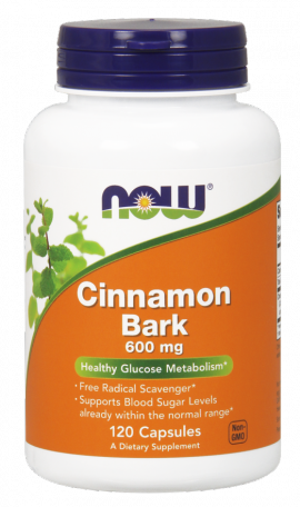 Now Foods Cinnamon Bark 600mg 120 Caps.
