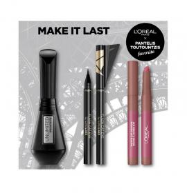 LOreal Paris Set Unlimited Bendable Mascara Black 7,4ml + Loreal Paris Matte Lip Crayon 102 Caramel Blondie - Μολύβι Χειλιών 1,3gr + Loreal Paris Superliner Flash Cat Eye