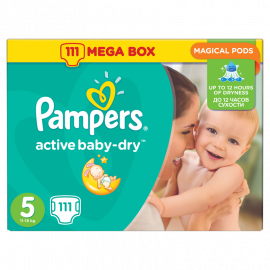 Pampers Active Baby Dry No.5 (11-18kg) 111 Πάνες