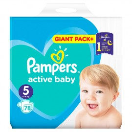 Pampers Active Baby Giant Pack No.5 (11-16kg) 78τμχ