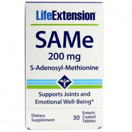 LIFE EXTENSION SAMe (S-adenosyl-methionine) 30 tabs