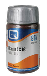 QUEST Vitamin A & D (7500 I.U. + 400 I.U.) Caps 90s