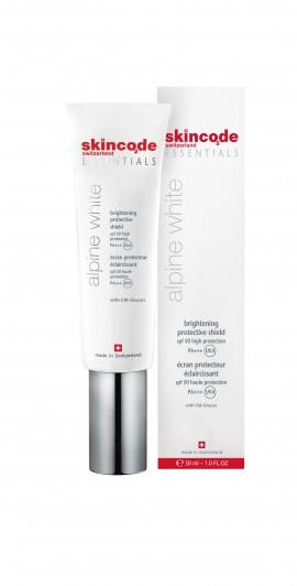 Skincode Essentials Alpine White brightening Anti Spot Suncare SPF50 30ml