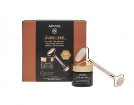 Apivita Set Queen Bee Κρέμα Ημέρας Ολιστικής Αντιγήρανσης Ελαφριάς Υφής 50ml + Δώρο Face Roller 1τμχ