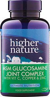 Higher Nature MSM Gloucosamine Joint Complex 90tabs