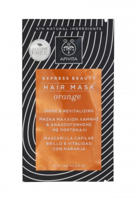 Apivita Express Beauty Hair Mask Orange Shine & Revitalizing 20ml