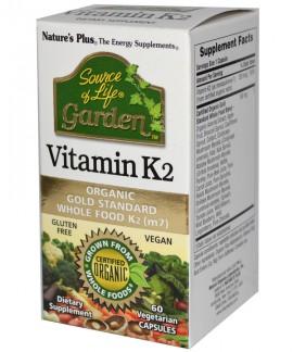 Natures Plus GARDEN VIT K2 120MCG 60 φυτικές κάψουλες