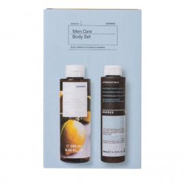 Κorres Set Men Care Body Cleanser Αφρόλουτρο Βασιλικός Λεμόνι 250ml + Aftershave Balm Καλέντουλα & Ginseng 250ml