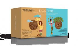 Power Health Healthy & Tasty Biscoteins Mπισκότα με Κομμάτια Σοκολάτας 37,5gr & Mπισκότα Σοκολάτα Φουντούκι 37,5gr