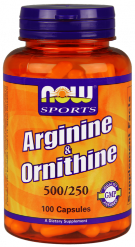 Now Sports Arginine & Ornithine 500/250mg 100caps