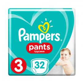 Pampers Pants No 3 (6-11 Kg) 32 Πάνες Βρακάκι