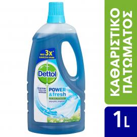 Dettol Power & Fresh Αντιβακτηριδιακό Πολυκαθαριστικό Για Μεγάλες Επιφάνειες Crisp Linen & Aqua Sky 1lt