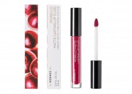 Korres Morello Matte Lasting Lip Fluid 74 Fix 3.4ml