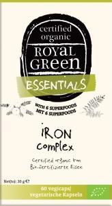 AM HEALTH ROYAL GREEN Organic Iron Complex 60 vegicaps