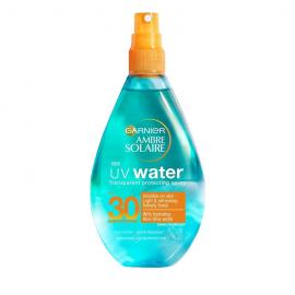 Garnier Ambre Solaire UV Water SPF30 Διάφανο Αντηλιακό Spray Προστασίας 150ml