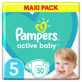 Pampers Active Baby Maxi Pack No.5 (11-16 kg) 50 Πάνες