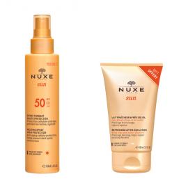 Nuxe Set Sun Melting Spray SPF50 Αντηλιακό Γαλάκτωμα για Πρόσωπο και Σώμα 150ml + Δώρο Refreshing After Sun Lotion 100ml