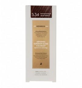 KORRES Abyssinia Superior Gloss Colorant 5.34 Καστανό Ανοιχτό Χρυσό-Χάλκινο 50ml