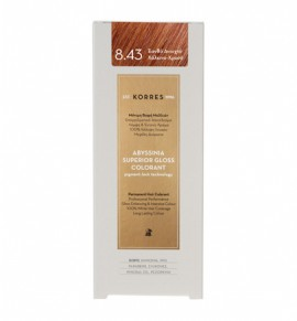KORRES Abyssinia Superior Gloss Colorant 8.43 Ξανθό Ανοιχτό Χάλκινο - Χρυσό 50ml