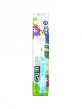 Gum 901 Kids Monsters Τιρκουάζ Παιδική Οδοντόβουρτσα 3-6 Ετών 1τμχ.
