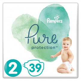 Pampers Pure Protection No.2 (4-8kg) 39 Πάνες