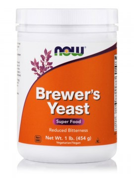 Now Foods Brewers Yeast Powder (Debittered) 1lb 454 gr