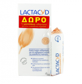 Lactacyd Intimate Classic Washing Lotion 300ml + Δώρο Intimate Cleansing Wipes 15τμχ