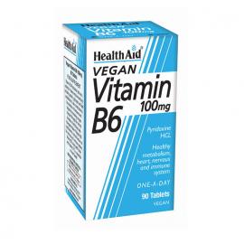 HEALTH AID VITAMIN B6 (PYRIDOXINE HCl) 100mg PROLONGED RELEASE TABLETS 90s