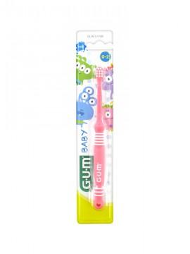 Gum 213 Baby Soft Ροζ Οδοντόβουρτσα 0-2 Ετών 1τμχ