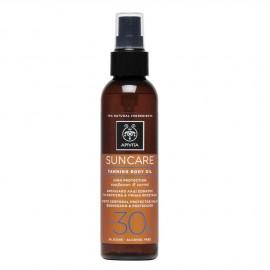 Apivita Suncare Sunbody Tanning Body Oil SPF30 με Hλίανθο & Kαρότο 150ml